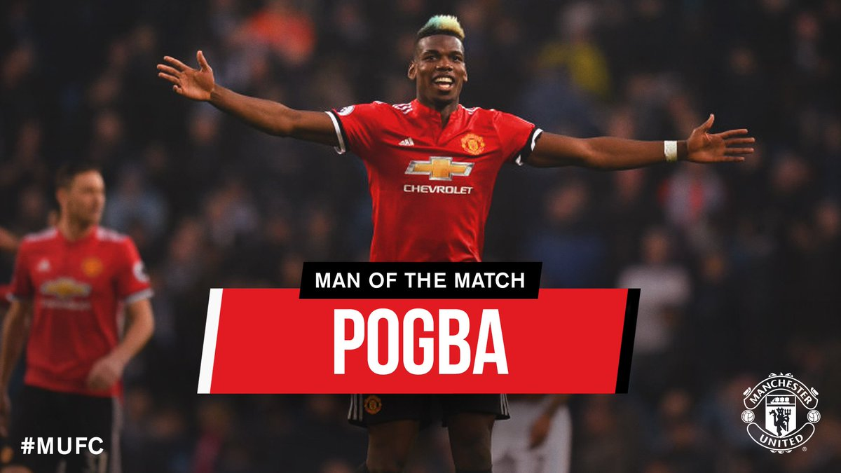 Ladies and gentlemen, your #MUFC Man of the Match on derby day...  @PaulPogba 👏