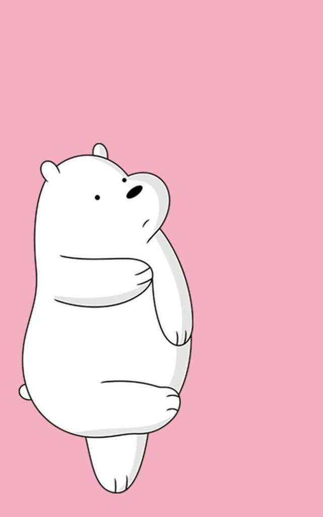We Bare Bears On Twitter Ice Bear Pink Wallpapers