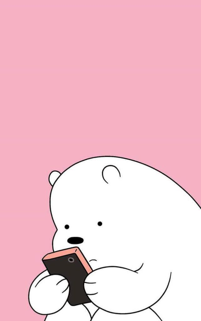 We Bare Bears On Twitter Ice Bear Pink Wallpapers Part 1