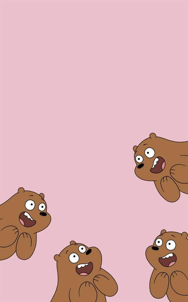 We bare bears on twitter grizzly pink wallpapers webarebears bears grizzly grizz panda - We bare bears background ...