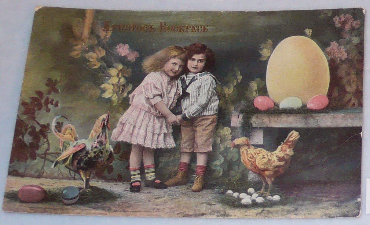 фото старинных пасхальных открыток размеры