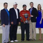 Big day for Patrick Reed at the #Masters after an amazing showing yesterday! Fun family throwback from 2014 when he won at @TrumpDoral. @PReedGolf #GoodLuck