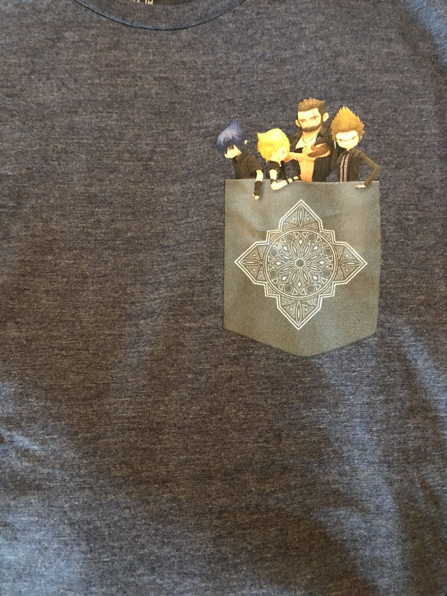 Today is the day to claim the last remaining #FFXV POCKET EDITION shirts for #PaxEast2018 attendees! If you haven't yet, visit booth 11017 at 10:00 am today and present your copy of Pocket Edition on your phone to claim this exclusive prize!