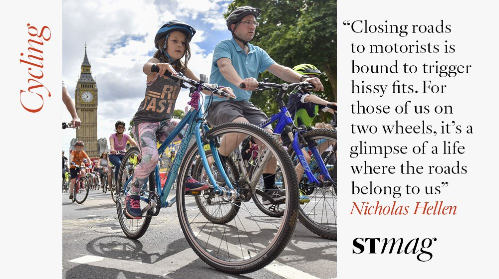 Cycling: The best way to recapture the 2012 Olympic spirit - and ruin Hugh Grant's day? Join the 100,000 cyclists saddling up for RideLondon, says  @NicholasHellen https://t.co/JbgBKSdQAQ