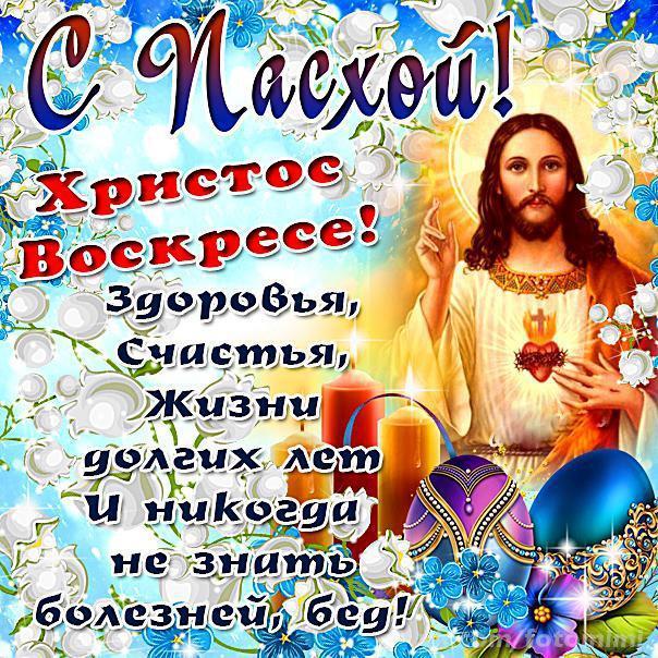 Открытки поздравления христос воскрес