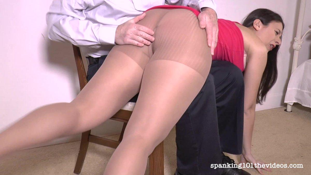 pantyhose otk Spank