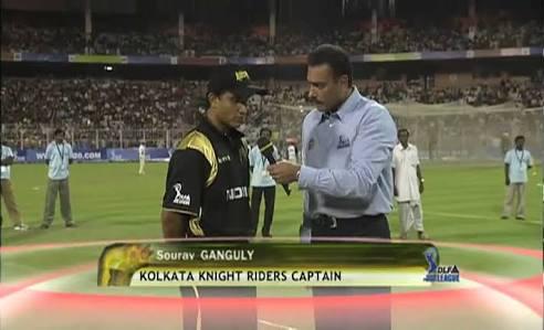 #DLFIPL Opener, KKR won the toss & Saurav Ganguly chose to bat. #KKRvRCB<br>http://pic.twitter.com/r8GDse1n3T