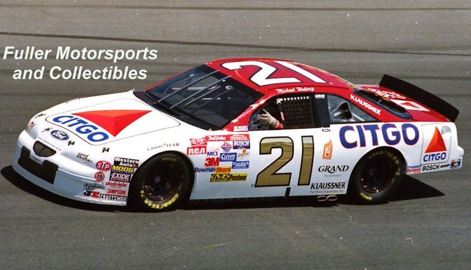 Happy Birthday, Eddie Wood!!  Michael Waltrip in the Citgo Ford in 1997.
