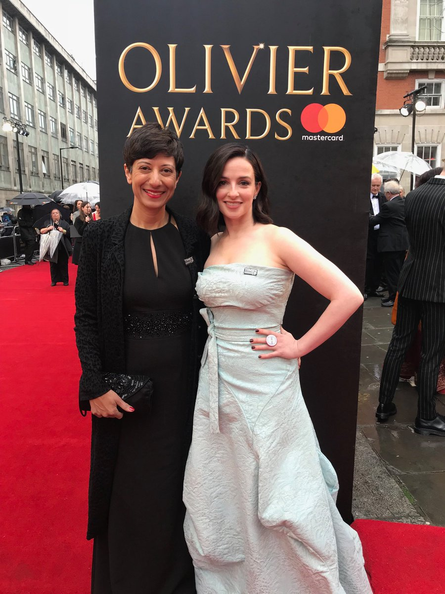 Thrilled to be talking #TimesUp @OlivierAwards with incredible @donnellylaura1 @womensaid