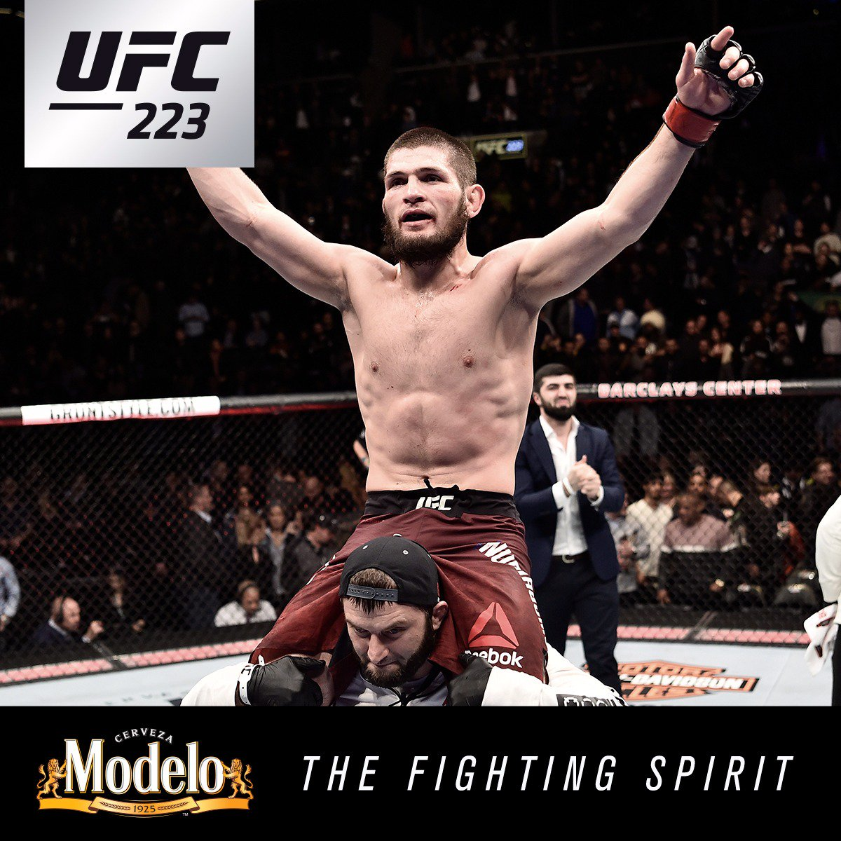 Champion mindsets The #FightingSpirit was on full display at #UFC223 as @TeamKhabib cemented himself as a UFC champion and @RoseNamajunas made her first title defense. @ModeloUSA