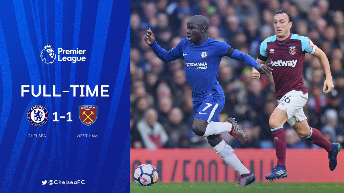 Chấm điểm kết quả Chelsea 1-1 West Ham