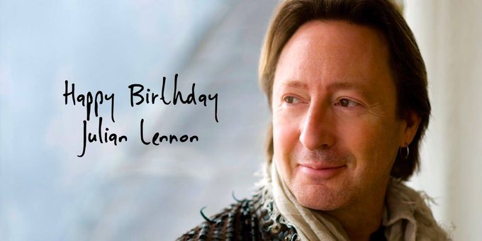 A big HAPPY BIRTHDAY shoutout to JULIAN LENNON turning 55 YEARS old today!