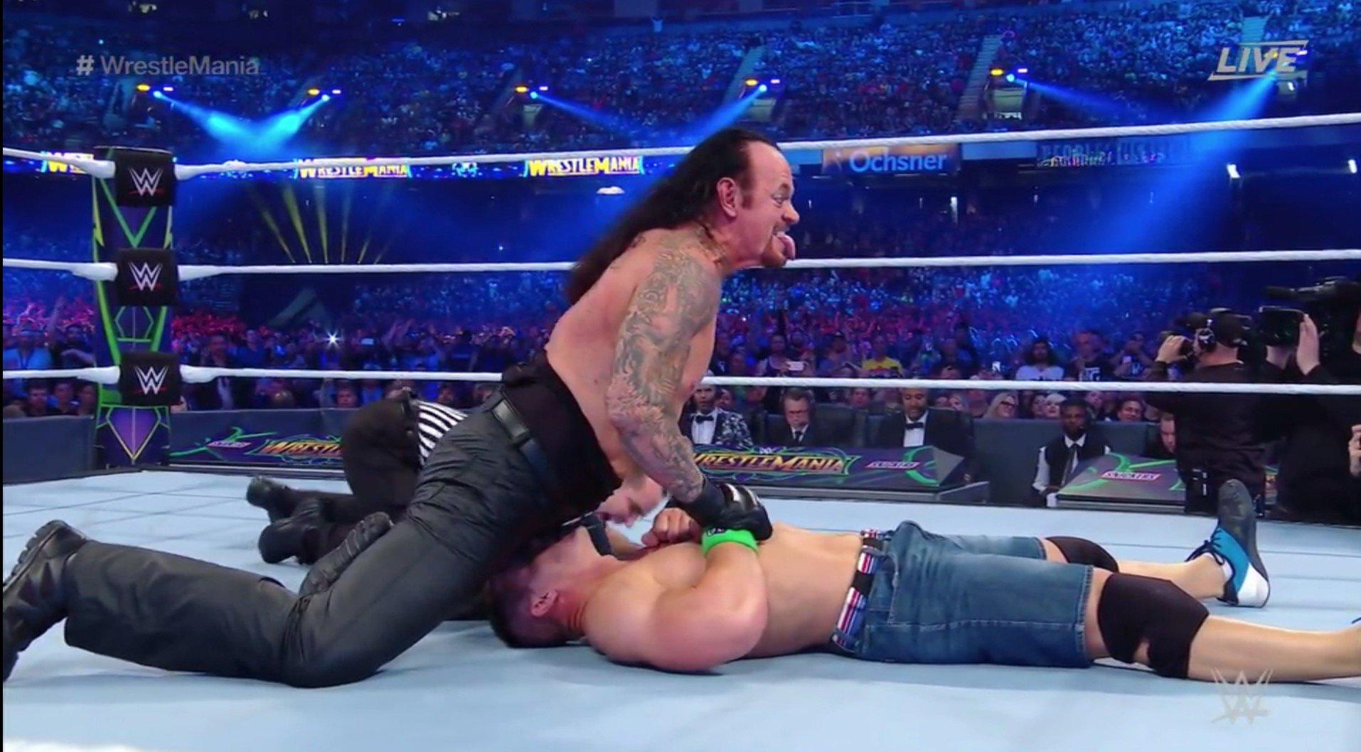 WOW.   Undertaker defeated John Cena at #WrestleMania https://t.co/0J36P6sm0t