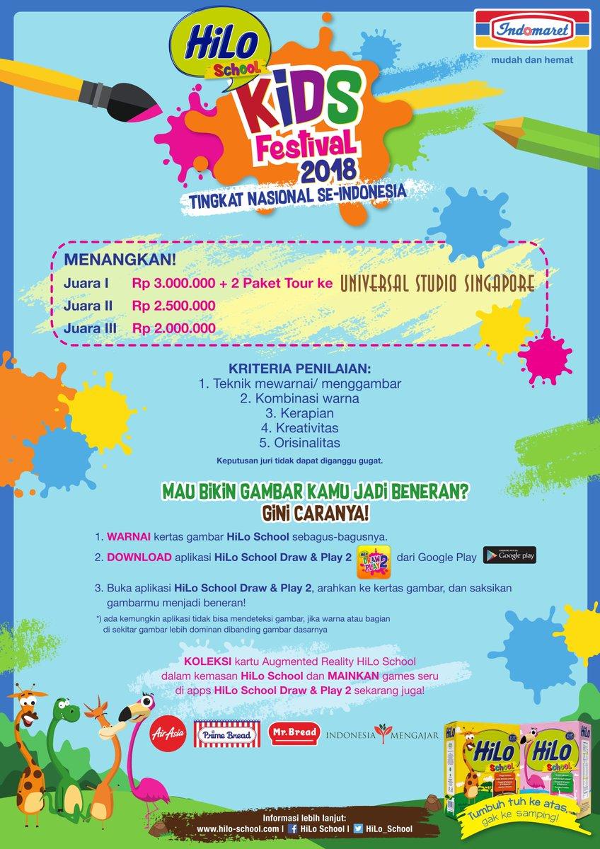 Informasi tanggal acaranya bisa kamu lihat di o school event hilo school kids festival 2018 bersama indomaret …picitter pflplzMNsx