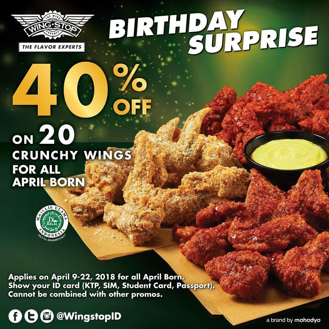Wingstop Indonesia On Twitter Flavorful Hooray For All April Born