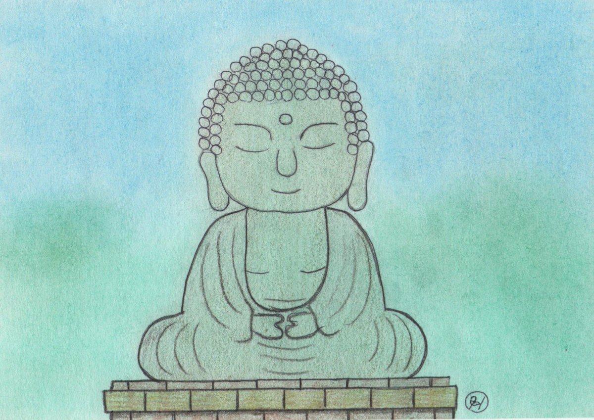 100枚以上のおすすめ画像 鎌倉 大仏 イラスト 1万