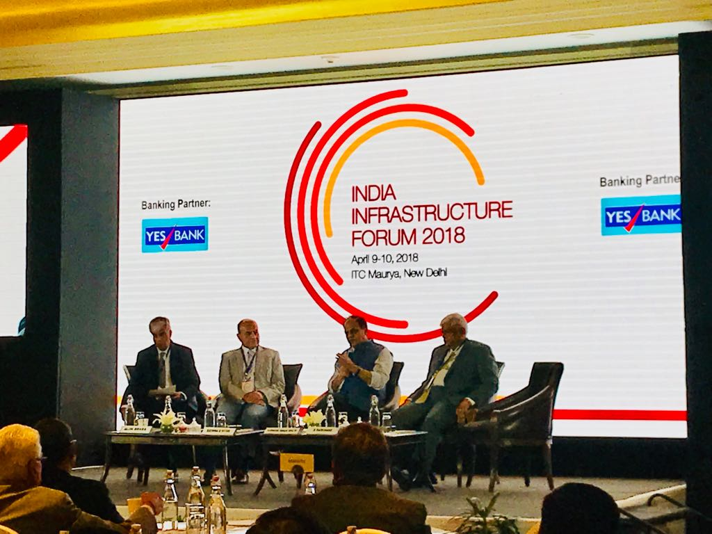 Road infrastructure is the need of the country, with or without PPP. The gaps have to be filled: Yudhvir Singh Malik, Secretary, Ministry of Road Transport & Highways - India at the India Infrastructure Forum @YESBANK @jmbaxigroup @india_infra @Indianinfra_mag #indiainfraforum