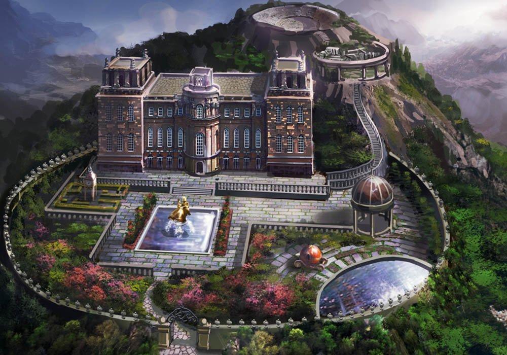 Blue Tea Games On Twitter The Concept Art Of The Hilltop Mansion - Mansion design games