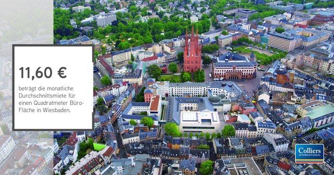 Erfahren Sie in unserem Marktbericht zur Bürovermietung in #Wiesbaden, wie sich der Büromarkt der hessischen Landeshauptstadt entwickelt und warum die Durchschnittsmiete mit einem Plus von 13% so deutlich angestiegen ist:  #office #research t.co/DNP2GDyzku