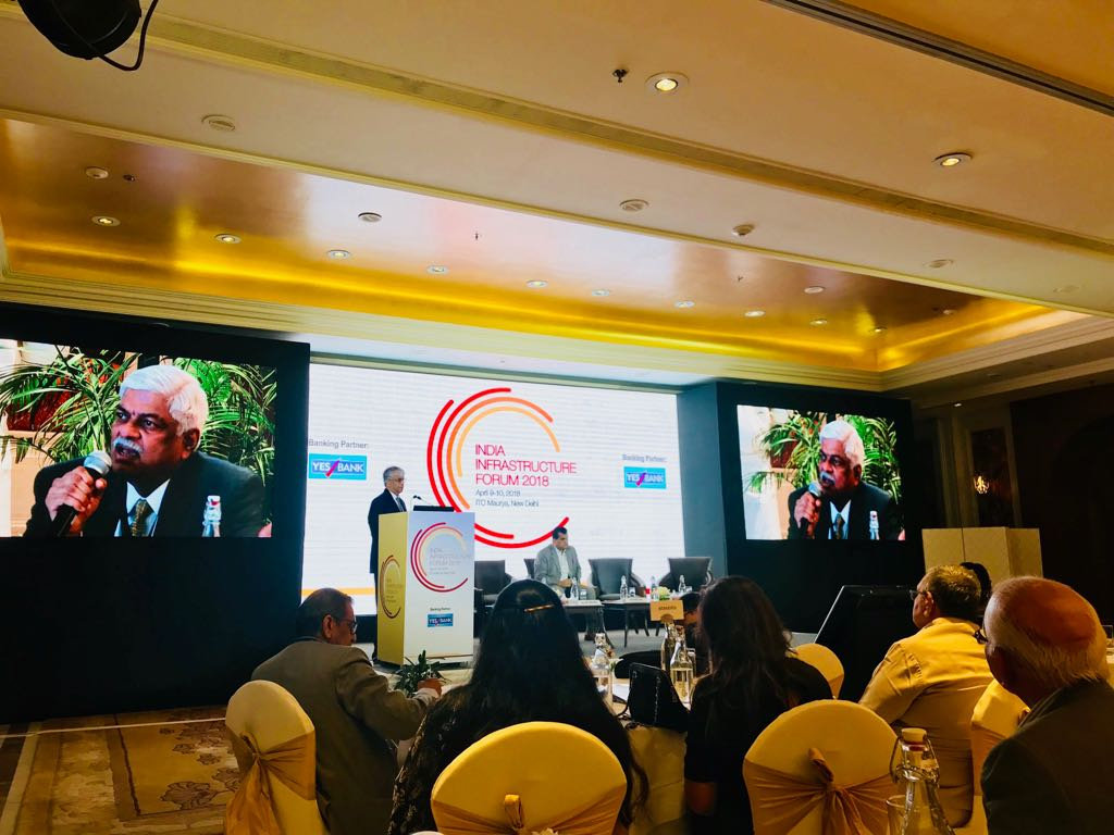 Private sector can be efficient if there is a proper risk sharing mechanism:  K. Ramchand, Managing Director, IL&FS Transportation Networks shares his opinion at the @indiainfraforum annual meeting @YESBANK @jmbaxigroup @india_infra @Indianinfra_mag  #indiainfraforum