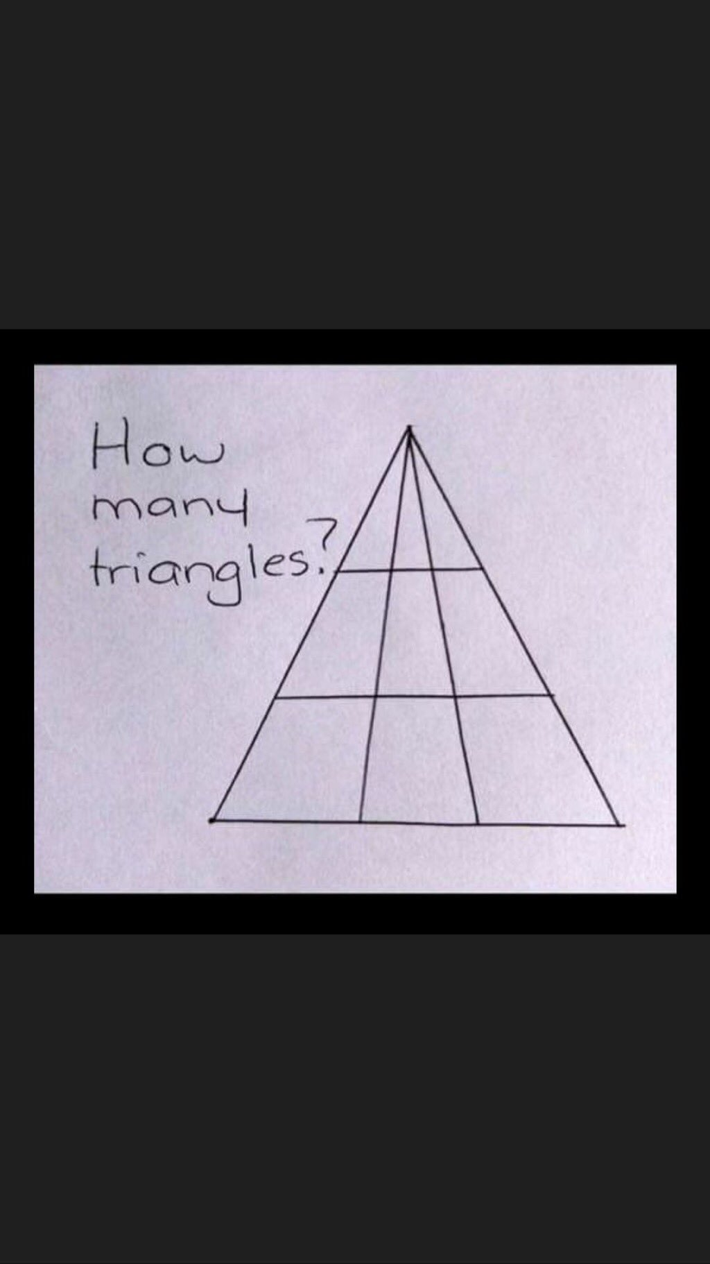 One image of simple triangle math puzzle.