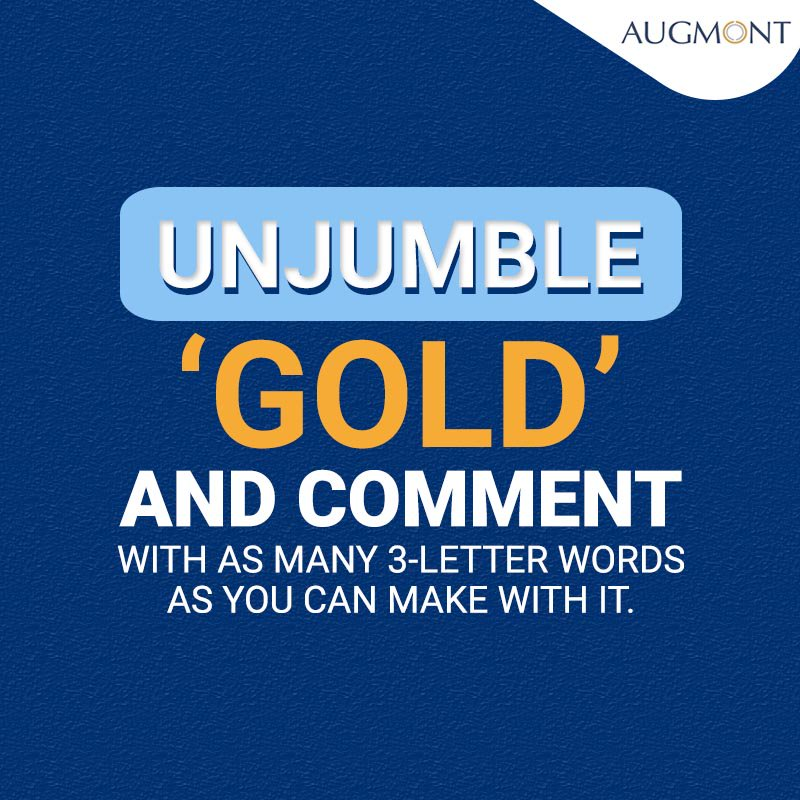 Augmont Gold On Twitter How Many Different 3 Letter Words Can You