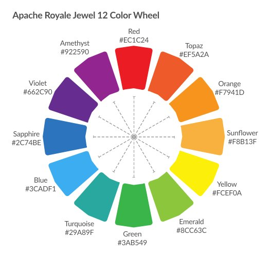 Apache Royale On Twitter This Is The 12 Color Wheel For Jewel