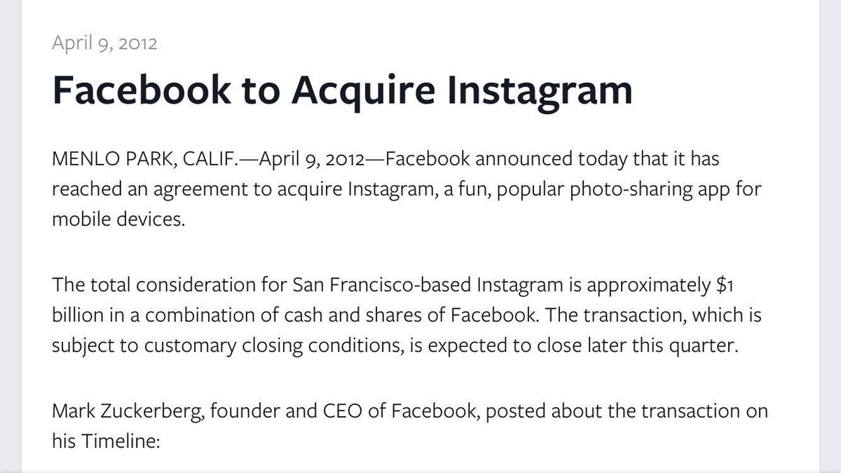 Jon Erlichman On Twitter On This Day In 2012 Facebook Buys
