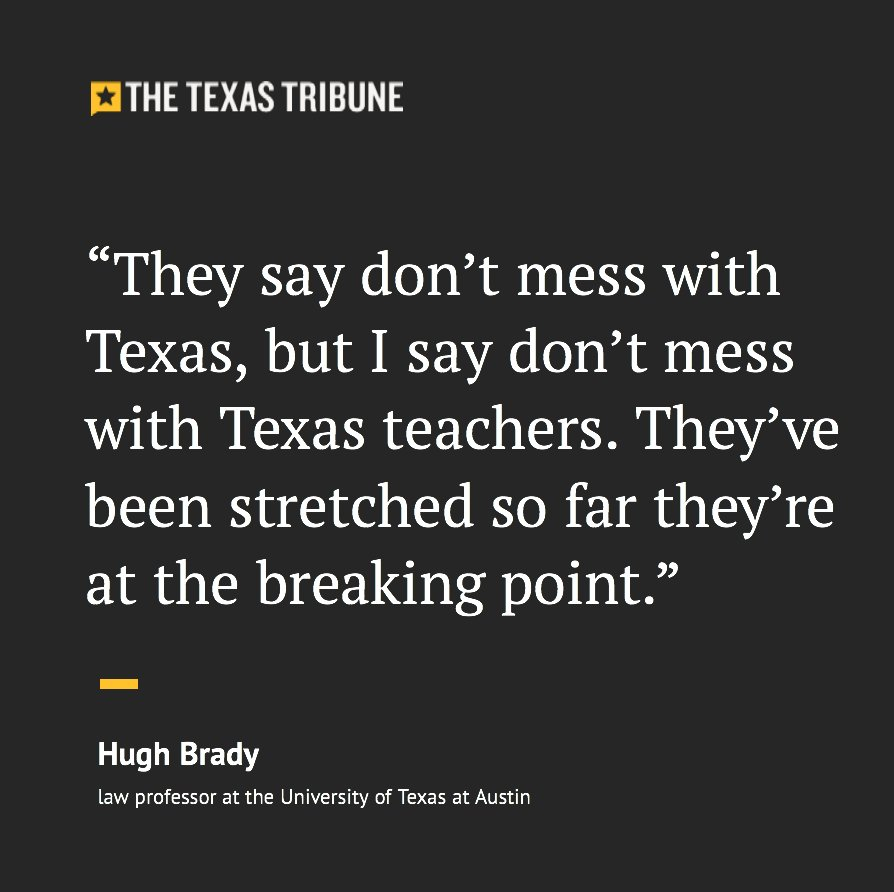 Texas Tribune On Twitter Texas Educators Have Long Expressed Their