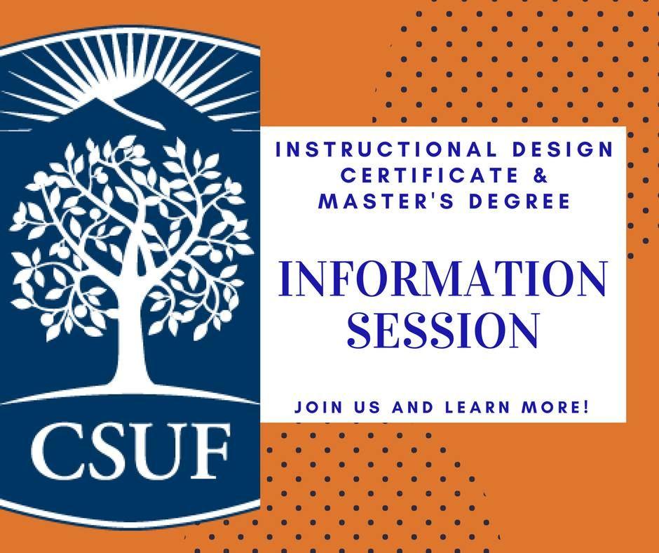 Instructional Design Csu Fullerton On Twitter Earn A Certificate