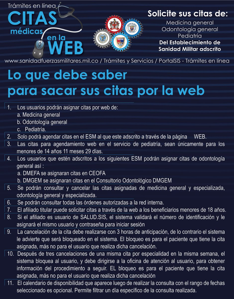 Citas web sanidad militar