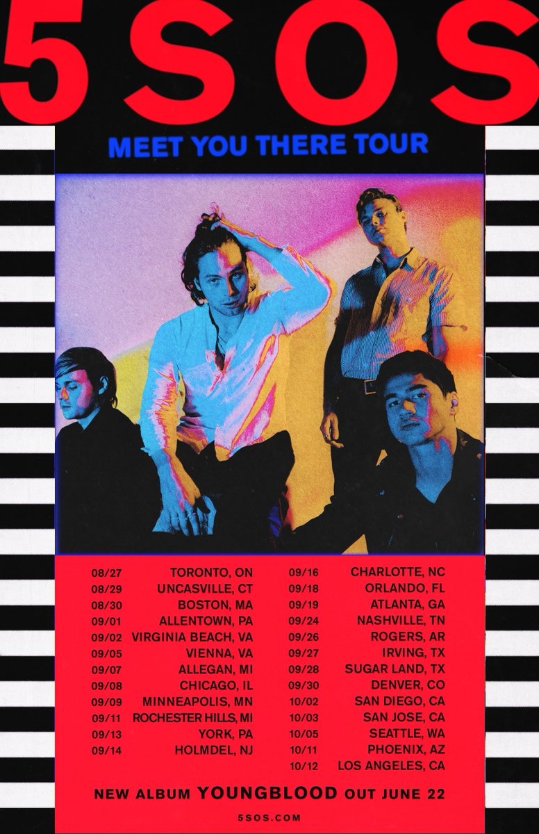 The first leg of the Meet You There Tour is coming to North America this August! Get tickets on April 13th at 10am local time https://t.co/oDAQBaQw3Q
