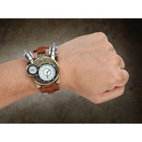 ⚙テスラウォッチ⚙ スチパン好き必見!ディテール&ギミック満載のアナログ時計。味わいのあるメタルパーツがたまらない!!