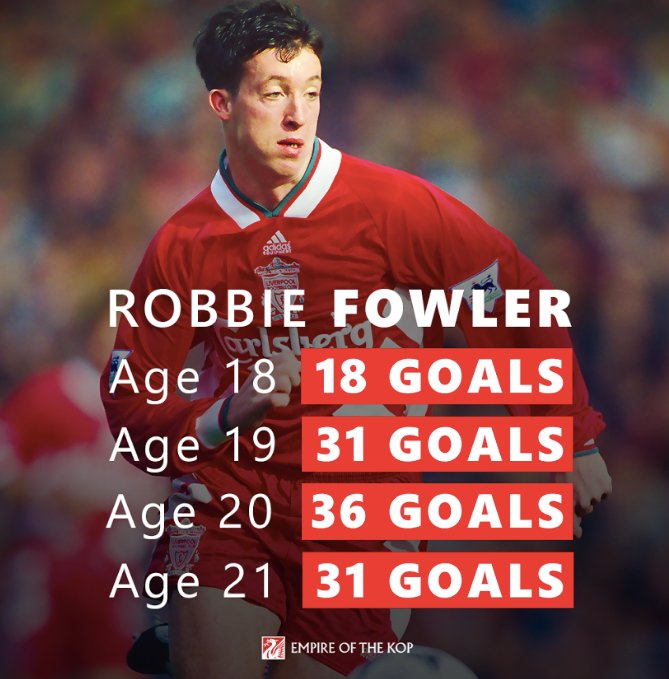 HAPPY BIRTHDAY GOD!  Imagine what a 21-year-old Robbie Fowler would be worth in today\s market...
