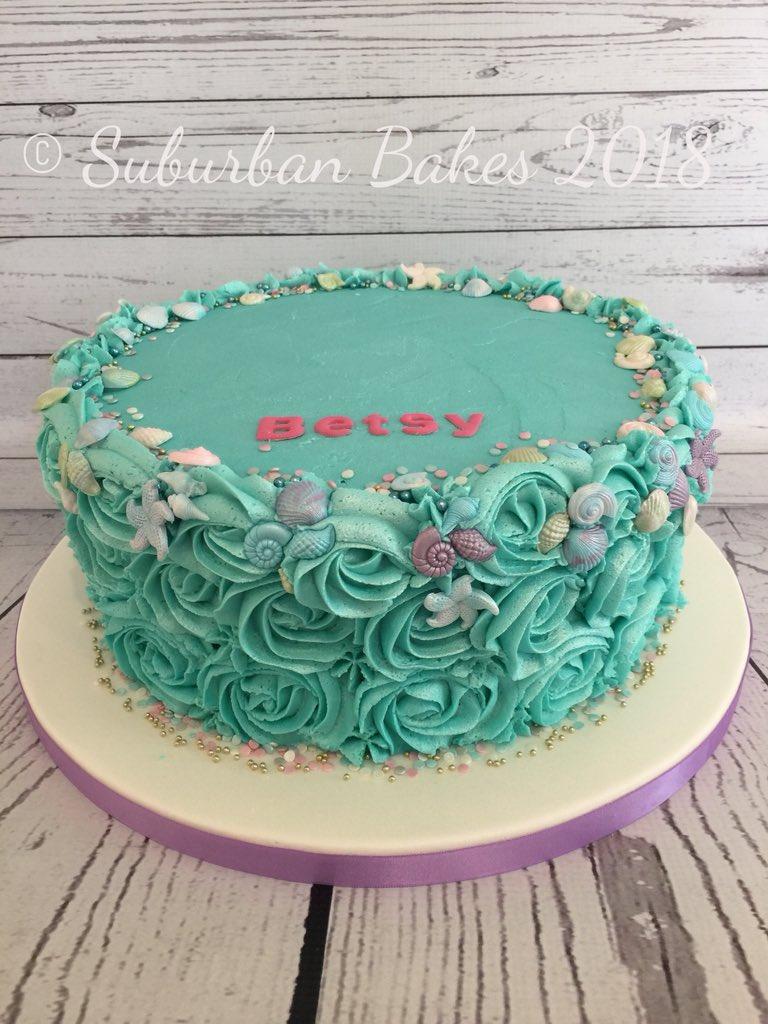 Suburban Bakes on Twitter Turquoise buttercream swirl cake ready