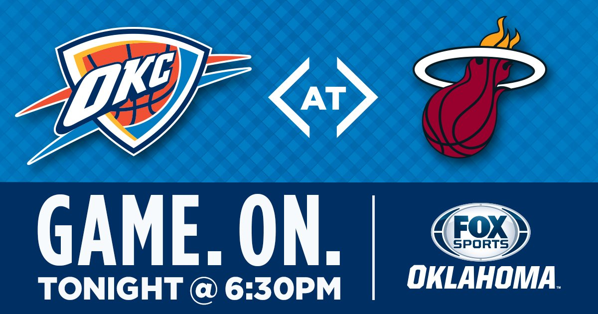 Thunder vs. Heat. Tune in tonight on @FOXSportsOK  #ThunderUp  Game Preview: https://t.co/Q93V9kFRrJ https://t.co/1LrAd1pyfS