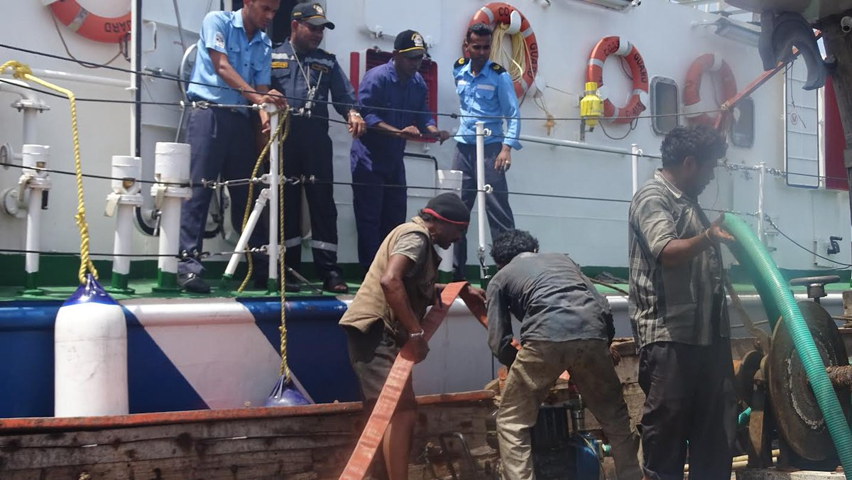 Coast Guard rescues fishing boat, 5 crew on board off Gujarat coast