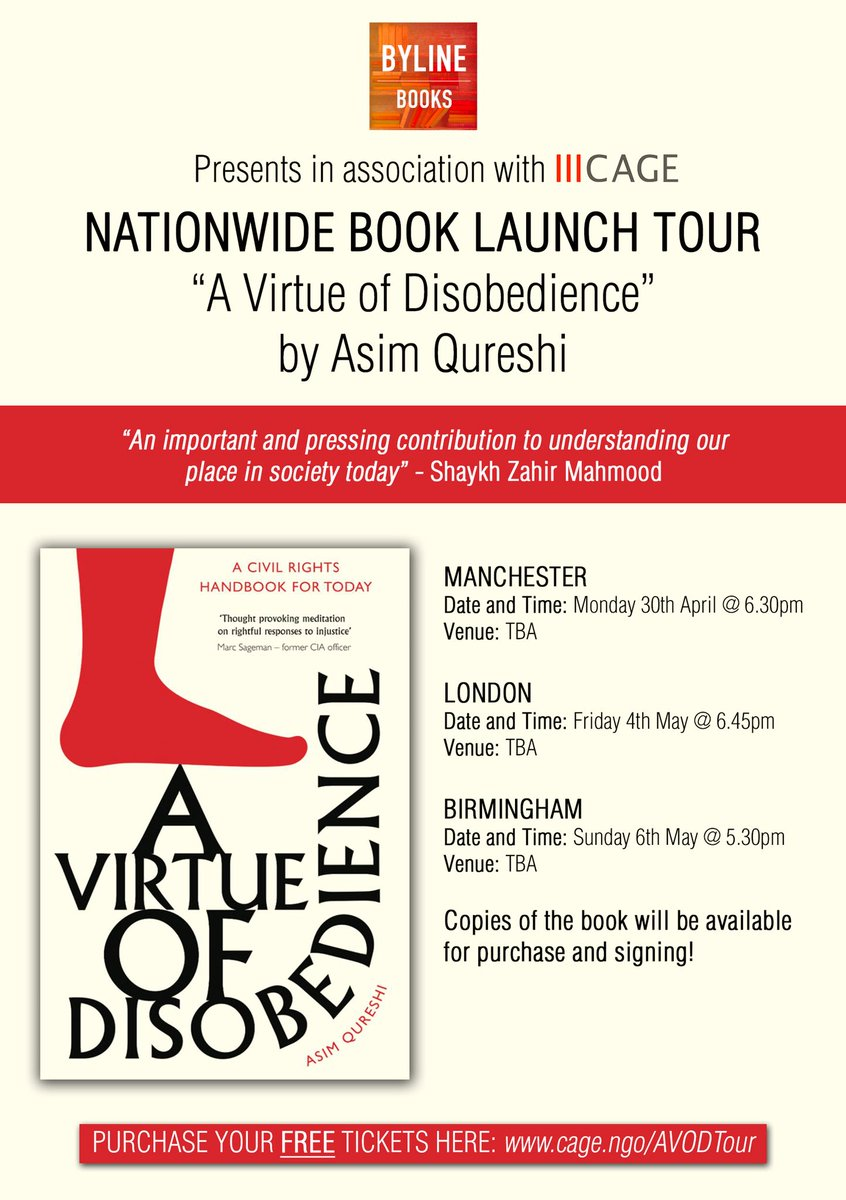cage on twitter book launch tour manchester london birmingham