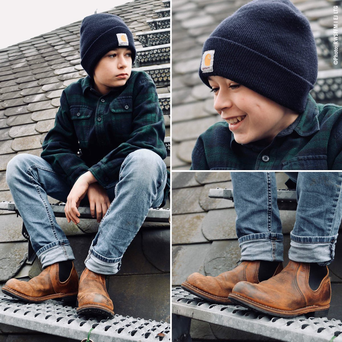 """f063ccd66f0 ... Circle"""": a nice worn in Chelsea Ranger #2917 made of Briar Oil Slick  Leather. Little Levi hopes that his feet will not grow so fast ."""