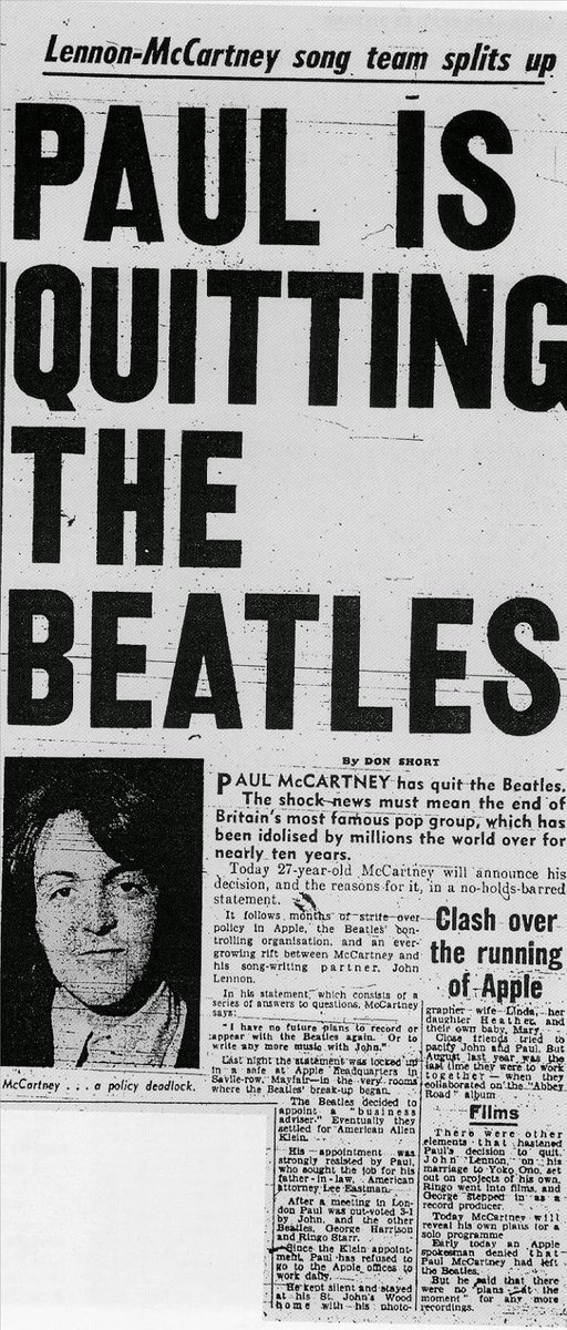 an analysis of the reasons in the break up of the beatles Paul mccartney calls beatles breakup 'therapy through hell' a new conversation with mccartney about the worst time of his life.