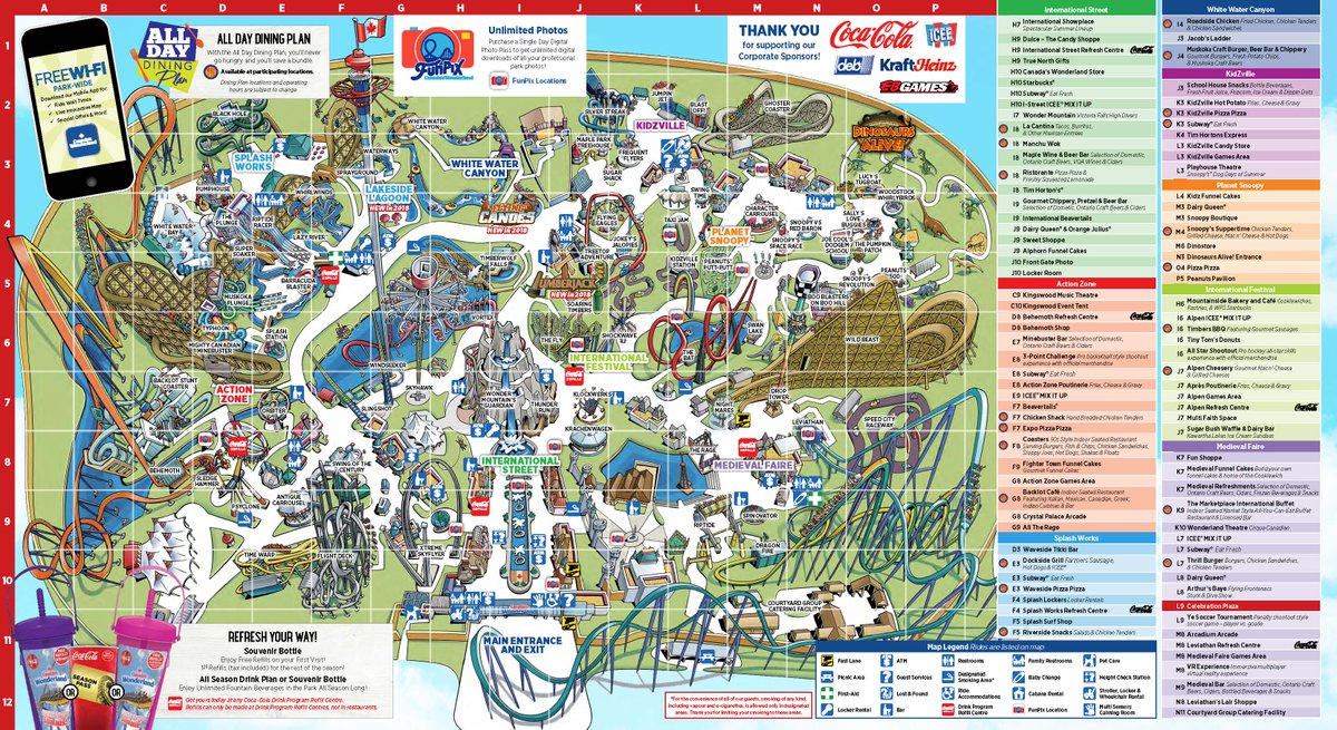 Cp Food Blog On Twitter The 2018 Canada S Wonderland Map
