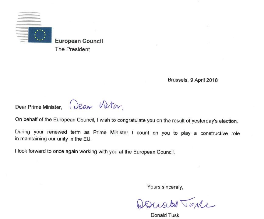 donald tusk on twitter my letter of congratulations to prime