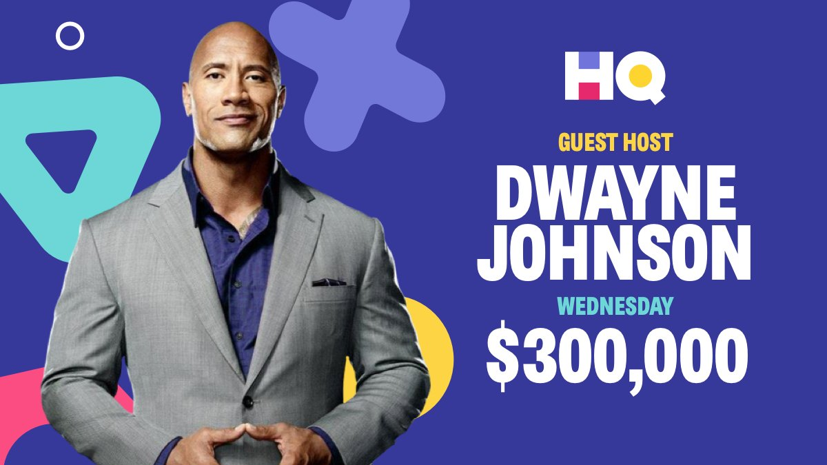 The Rock is hosting a $300000 game of headquarters on Wednesday