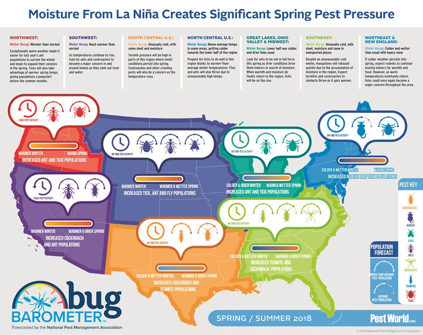 Arrow Pest Control On Twitter Wondering Which Pests May Pay You A Visit This Spring Check Out Forecast By The Npma To Learn More