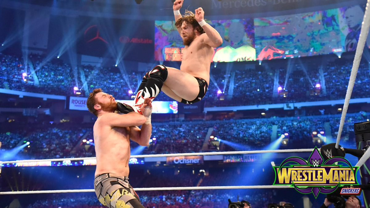 #WrestleMania = #YEStleMania  Find out what happened when @WWEDanielBryan made his long-awaited in-ring return at The #ShowcaseOfTheImmortals! @SamiZayn @shanemcmahon #KevinOwens PHOTOS: wwe.me/Tq3qp3