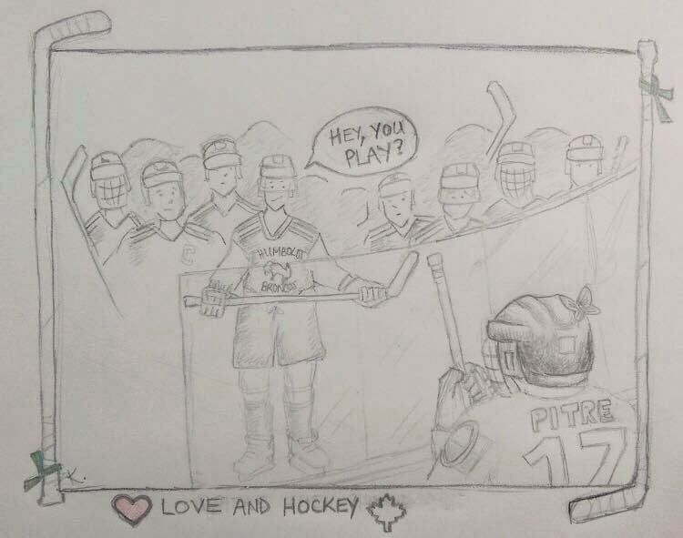 Not sure who did this but increasingly powerful 😥 🦋💚#humboldtbroncos https://t.co/XkxMRi42SM