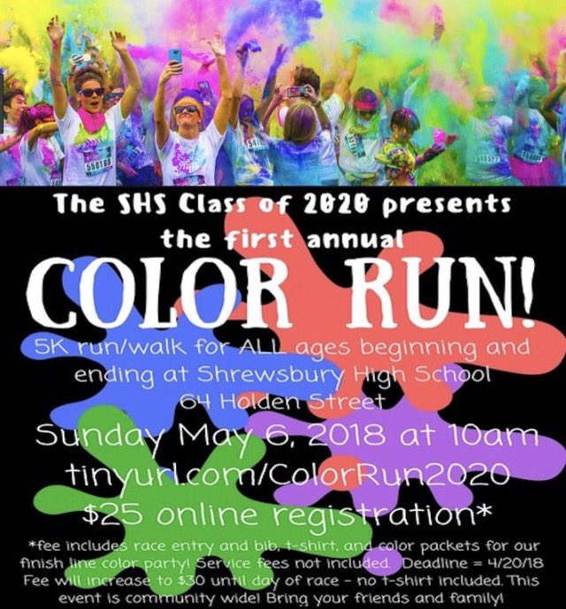 The Color Run 2020.Class Of 2020 On Twitter Don T Forget To Register For The