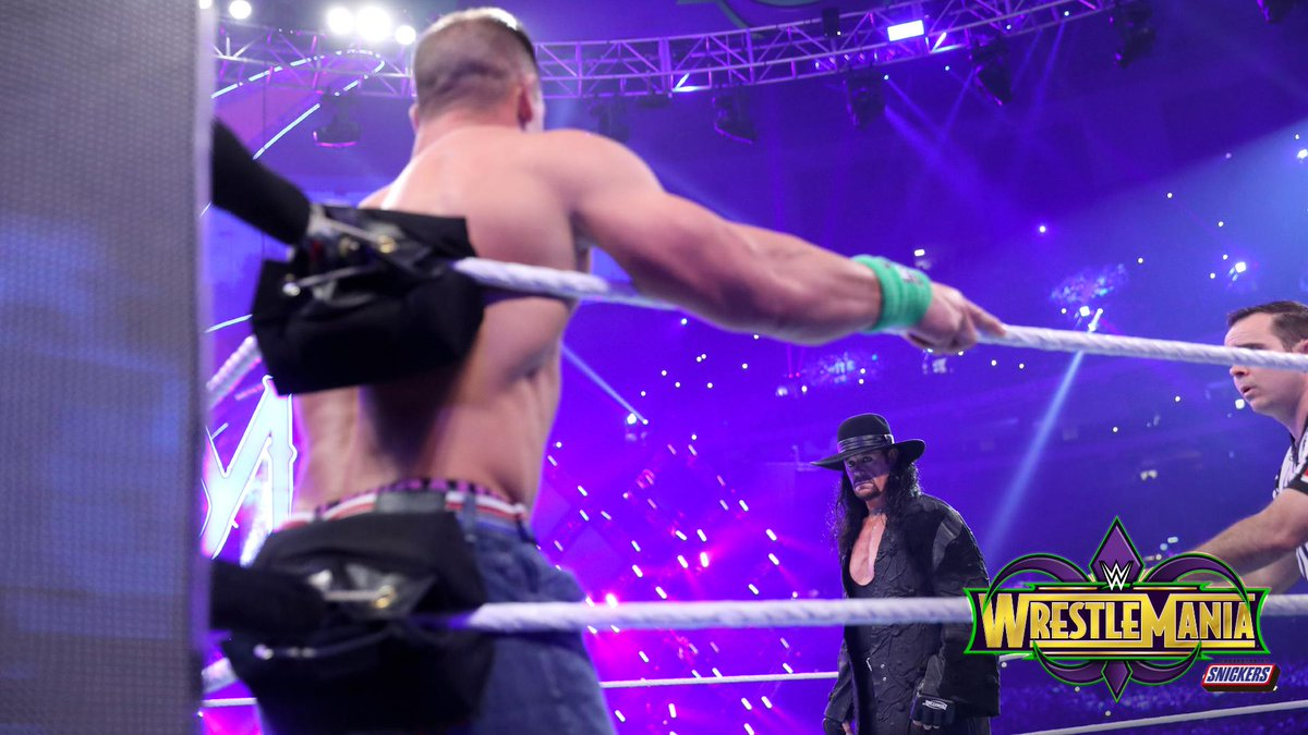 .@JohnCena called for The #Undertaker, and thats exactly who he got at #WrestleMania!!! PHOTOS: wwe.me/bjffeM