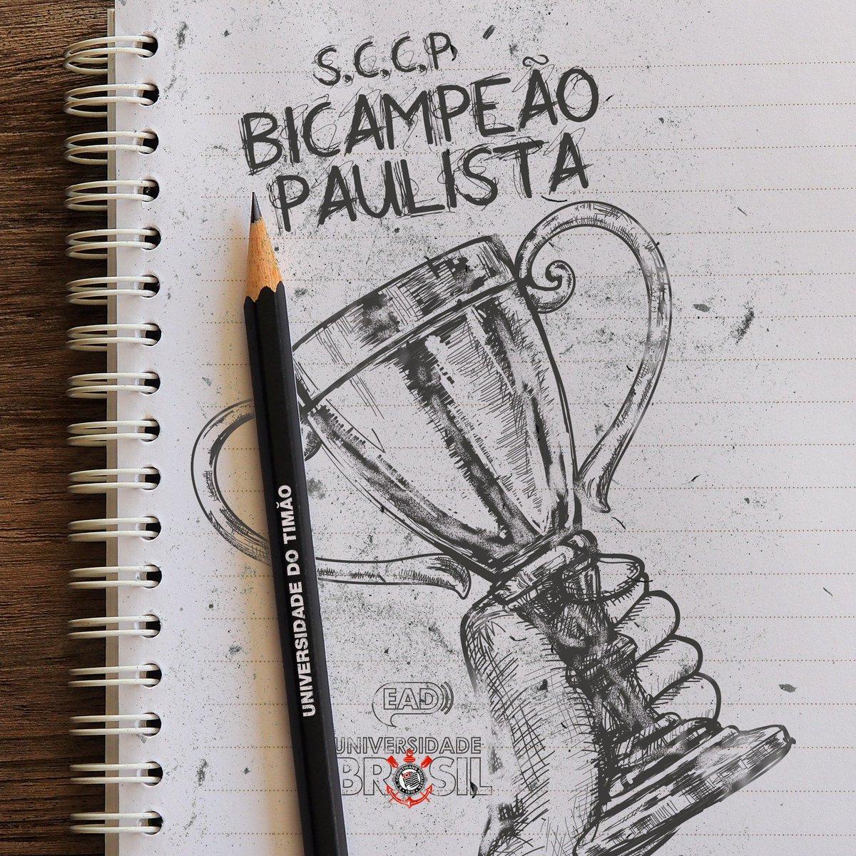 Parabéns, Corinthians!   Bicampeão paulista fora de casa, apresentando sua tradicional raça e superação para alegria do bando de loucos. A Universidade Brasil é #EsporteComEducação e vibra a cada conquista corintiana!    #Timão