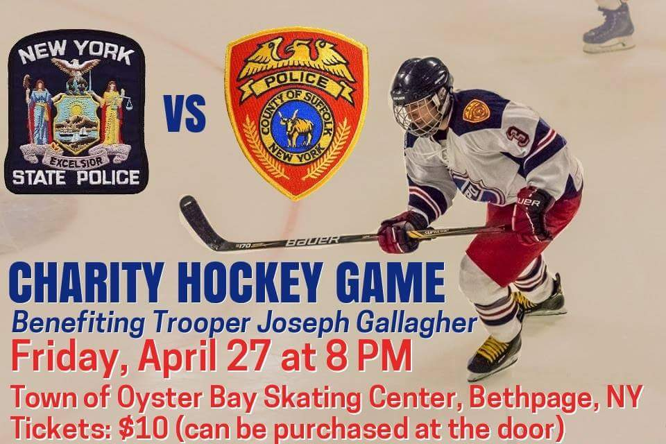 ... off against the @nyspolice Hockey Team in a charity hockey game to  benefit Trooper Gallagher: https://m.facebook.com/events/594354494252263 …